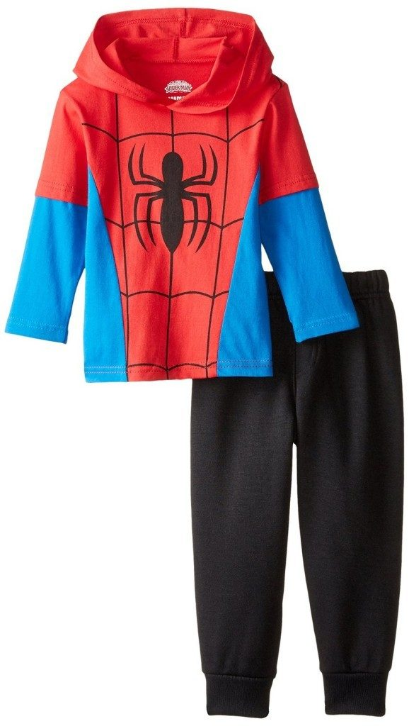 Marvel Boys' Spiderman Hooded Top with Jogger Fleece Pant Starting At $6.68!