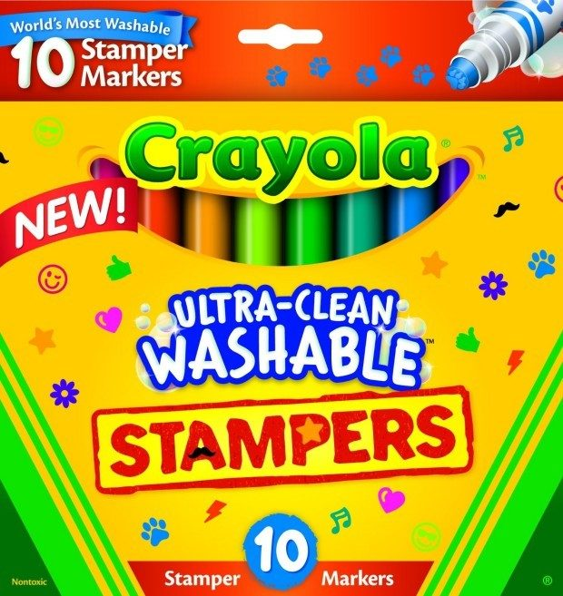 Crayola 10-Count Ultra Clean Expression Stamper Markers Only $3.99! (Reg. $6)