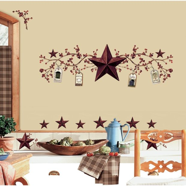 Country Stars And Berries Peel & Stick Wall Decals Only $8.81 (Reg. $14)