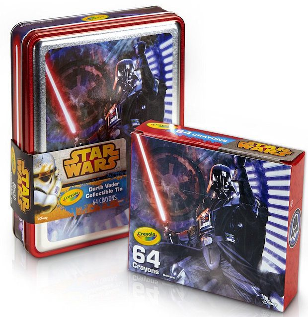 Crayola Star Wars Darth Vader Collectible Crayon Tin Only $7.49! (Reg. $16)