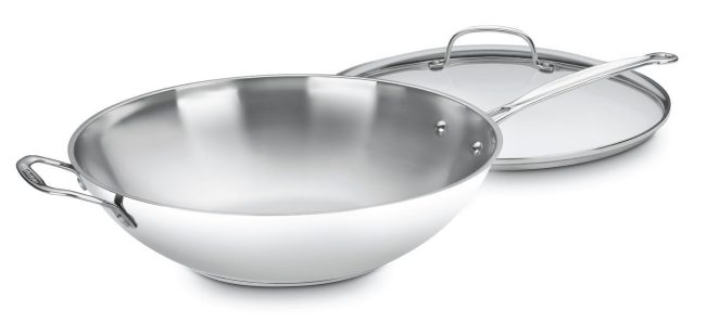 Cuisinart 14-inch Stir Fry Pan with Handle and Cover Just $28.24! (reg. $100)