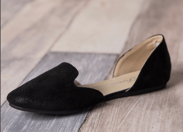 Shimmer Faux Suede Flats Only $9.95!