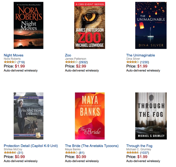 Summer Reads eBooks $2.99 Or Less!