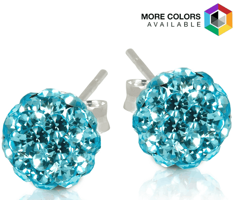 2 CT Swarovski Element Crystal Ball Studs Only $4.99 Shipped From Tanga!