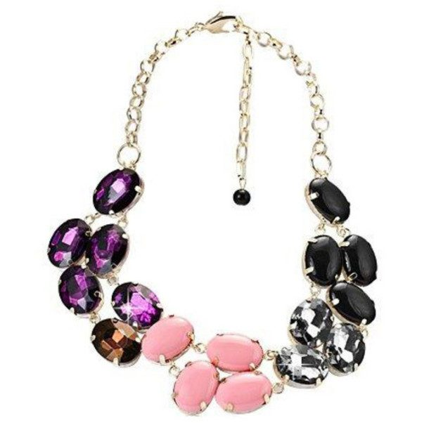 Multicolored Large Statement Necklace Only $8.99 + FREE Shipping!