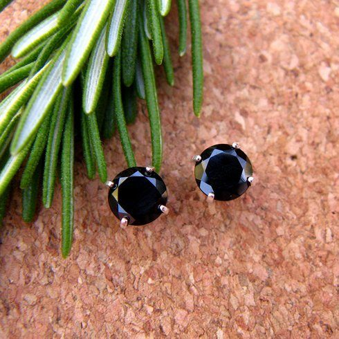 Sterling Silver Black Spinel Gemstone Earrings Only $4.99 Shipped From Tanga!