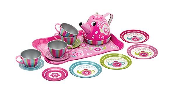 Schylling Toys Musical Tin Tea Set Just $11.96! (reg. $23)