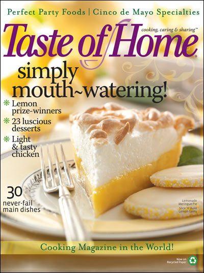 FREE Subscription to Taste Of Home Magazine!