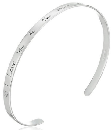 "Sterling Silver ""I Love You to the Moon and Back"" Cuff Bracelet Just $20 Down From $100!"