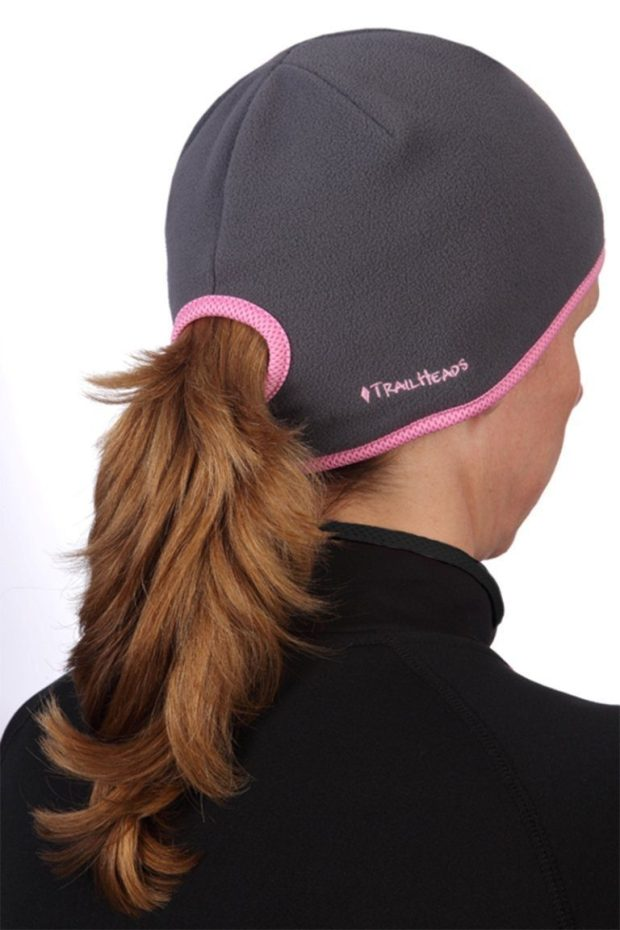 TrailHeads Women's Ponytail Hat (Charcoal/Pink) Only $16.95!  (Reg. $26!)