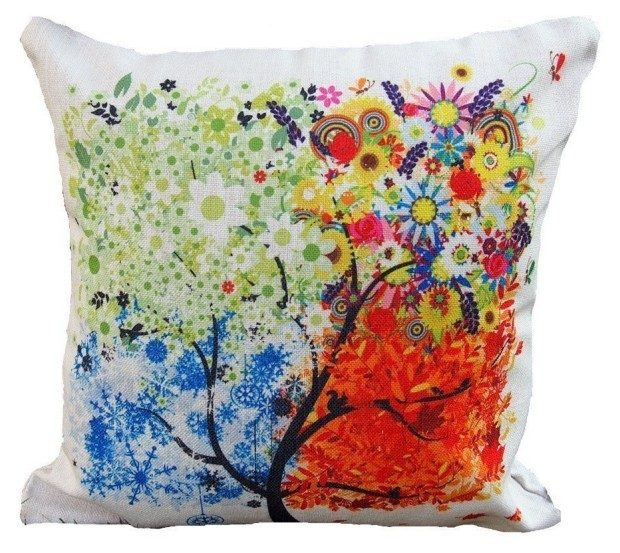 Colorful Tree Cotton Linen Pillow Case Cover Only $3.25!  (Reg. $20) Ships FREE!