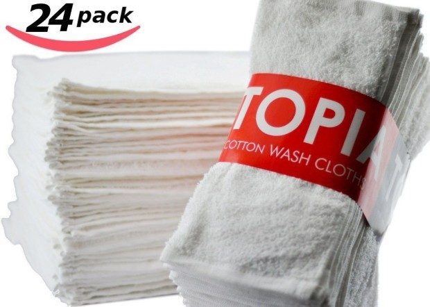 Utopia Towels Washcloths 24 Pk Only $11.95!  Down From $30!