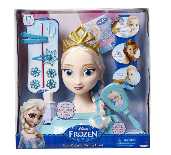 Disney's Frozen Elsa Majestic Styling Head ONLY $16.45 + FREE Prime Shipping (WAS $35)!