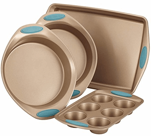 Rachael Ray Cucina 4-Piece Bakeware Set Latte Brown ONLY $36.71 + FREE Shipping (WAS $80)!