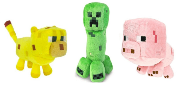 Minecraft Plush Figures Only $6.99 + FREE Prime Shipping (Reg. $12)!