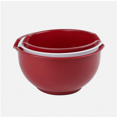 Red 3-Piece Mixing Bowl Set Only $6.99 + FREE Shipping (Reg. $16)!