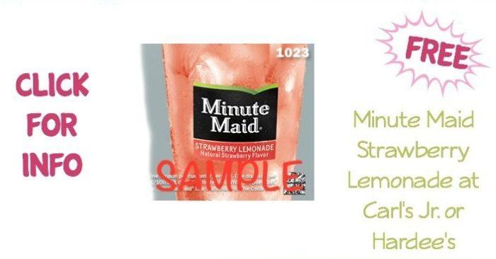 FREE Minute Maid Strawberry Lemonade At Carl's Jr. or Hardee's!