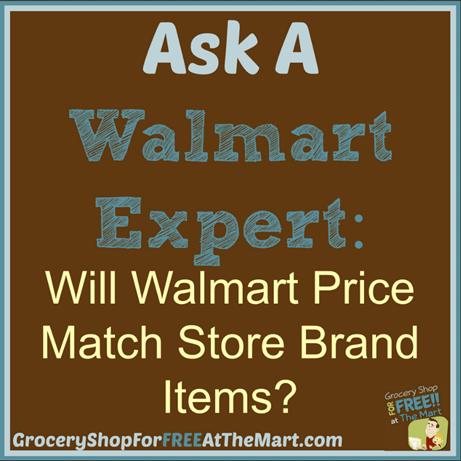 Ask A Walmart Expert: Will Walmart P:rice Match Store Brand Items?