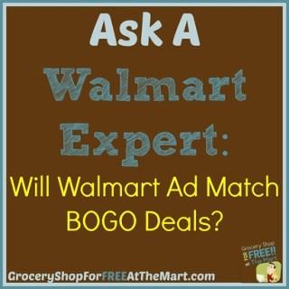 Ask a Walmart Expert: Will Walmart Ad Match BOGO Deals?