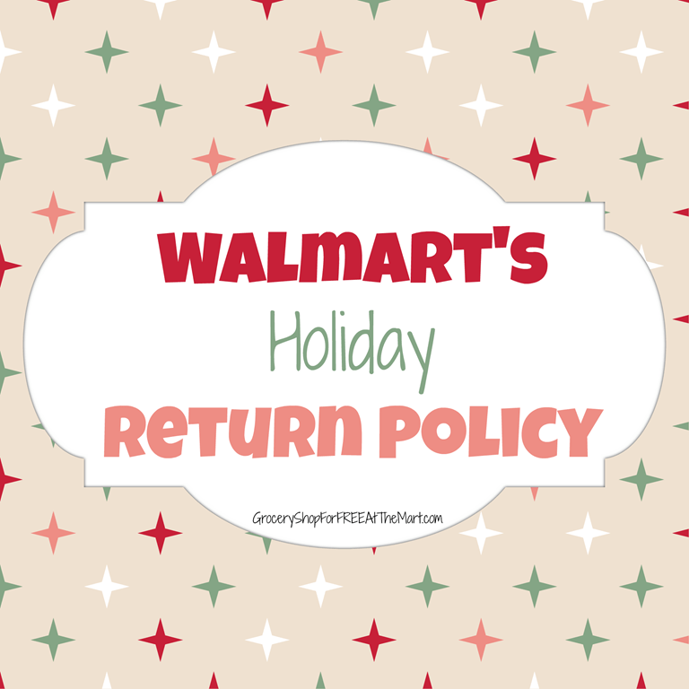 Walmart Holiday Return Policy | Grocery Shop For FREE at The Mart!!