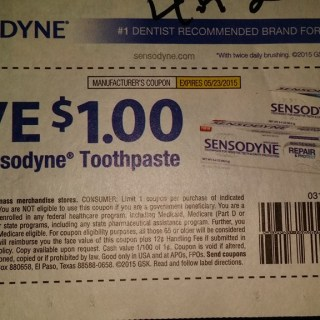Sensodyne Says You Can't Use this Coupon! (If you are Over 65 or a Government Beneficiary)