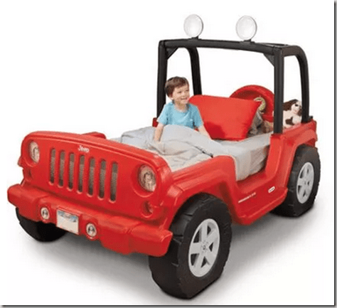 Great Walmart Dare to Compare Deal Red Jeep Toddler Bed Just