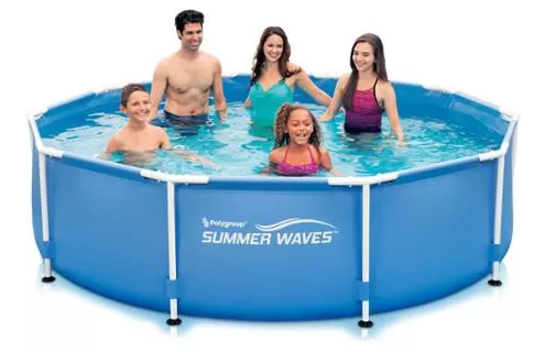 Summer Waves 10 X 30 Round Metal Frame Swimming Pool Just 59 At Walmart Reg 99 Grocery