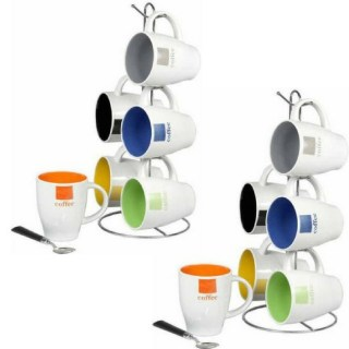 6-Piece Mug Set With Stand Just $13.42! Down From $18!