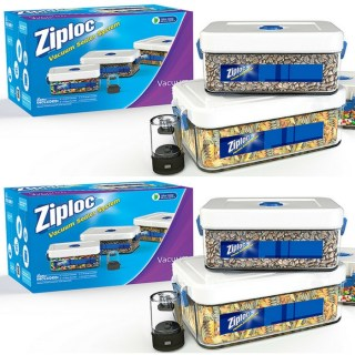 Ziploc 3-Piece Canister Set With Adapter Just $18.49! Down From $35!
