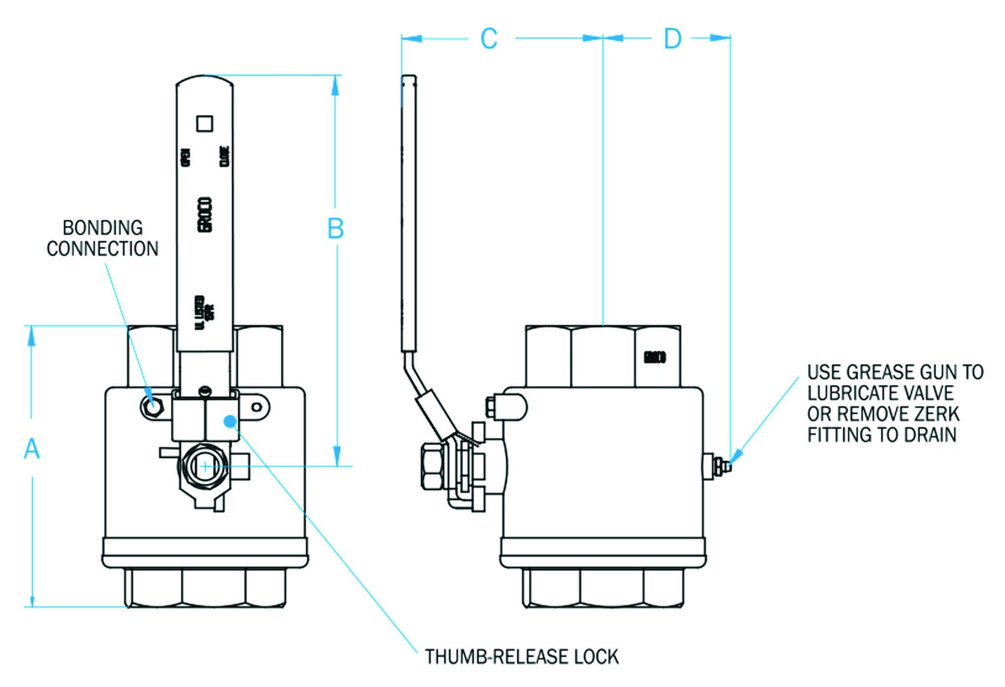Ibv S 1 1 4 Npt 316 Stainless Steel Inline Valve Groco