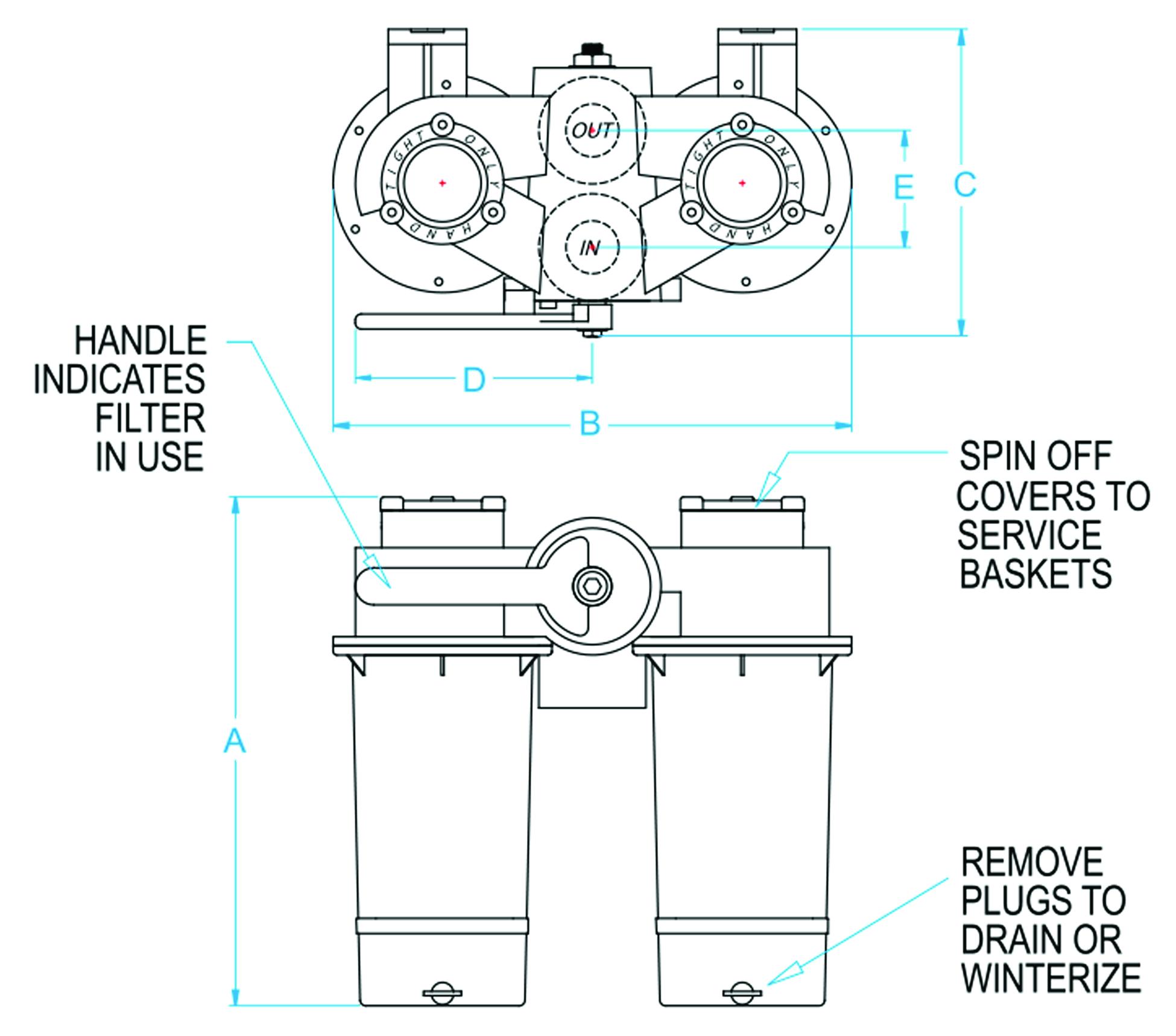 Duplex Raw Water Strainer