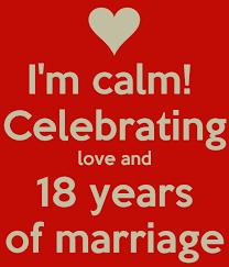 Vandaag al 18 jaar getrouwd