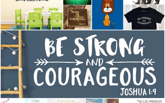 'Wees sterk en moedig'