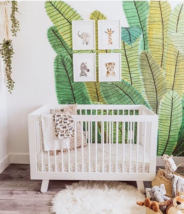 Nursery Decor: The Tropical Jungle