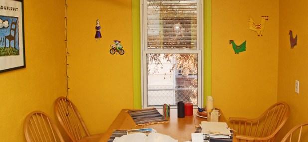 yellow kitchen