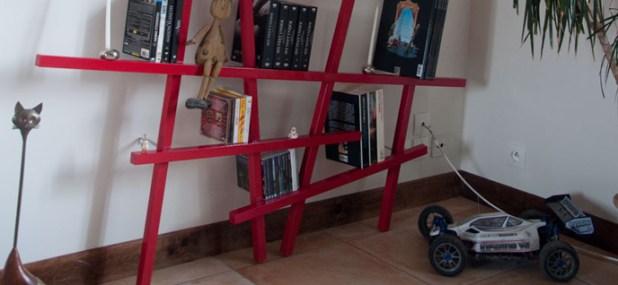 deconstructed shelves