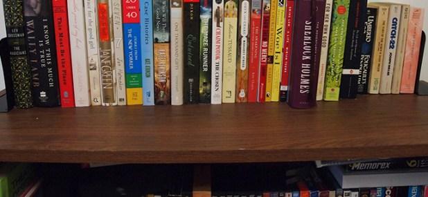 dusty top shelf