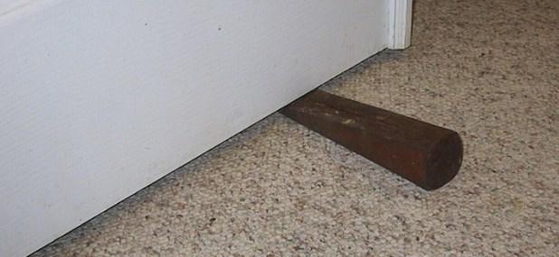 wedged door