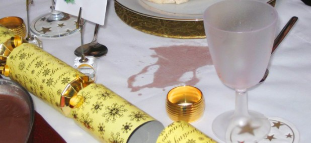 stained tablecloth