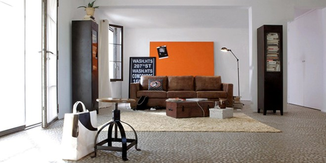 Create An Industrial-Style Living Room