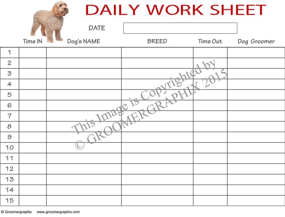 Daily Worksheet Download Groomergraphix