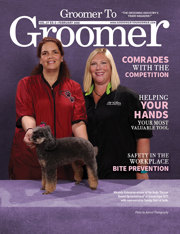 February 2018 Groomer to Groomer Cover