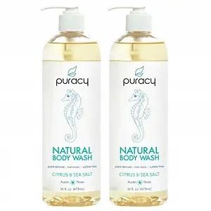 Puracy Natural Citrus & Sea Salt Shower Gel