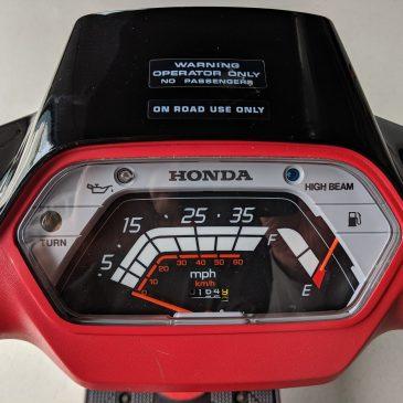 Sold – 1986 Honda Aero 50 – 164.9 Miles