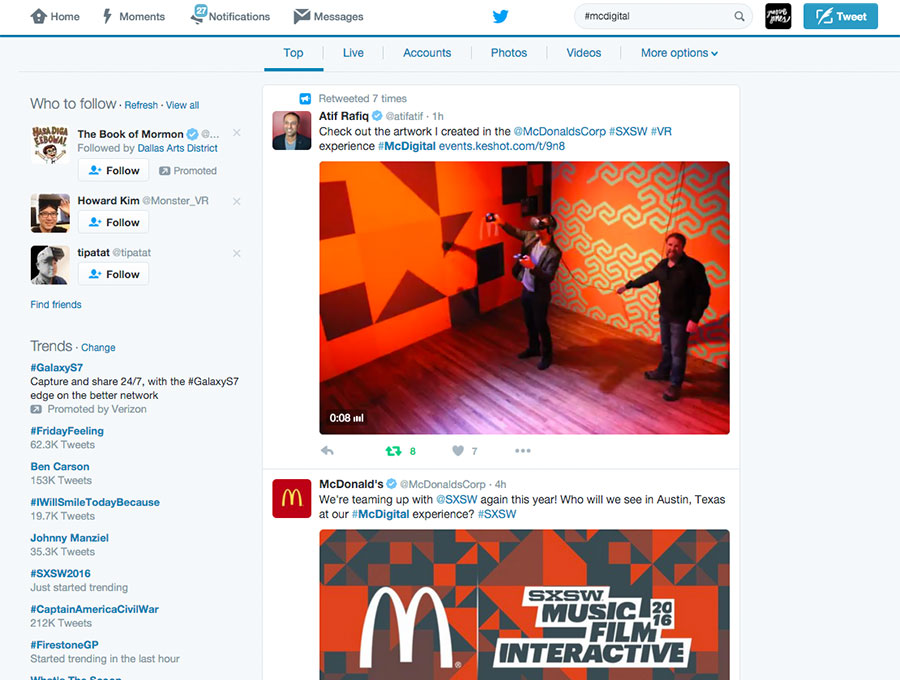 McDonald's VR