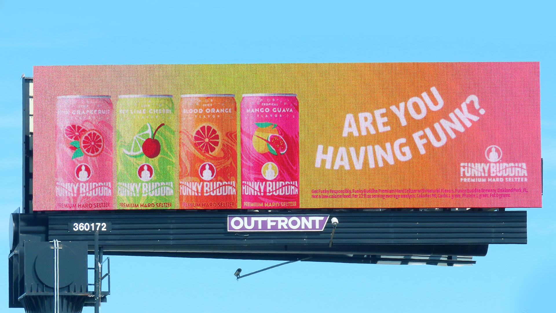 Funky Buddha billboard