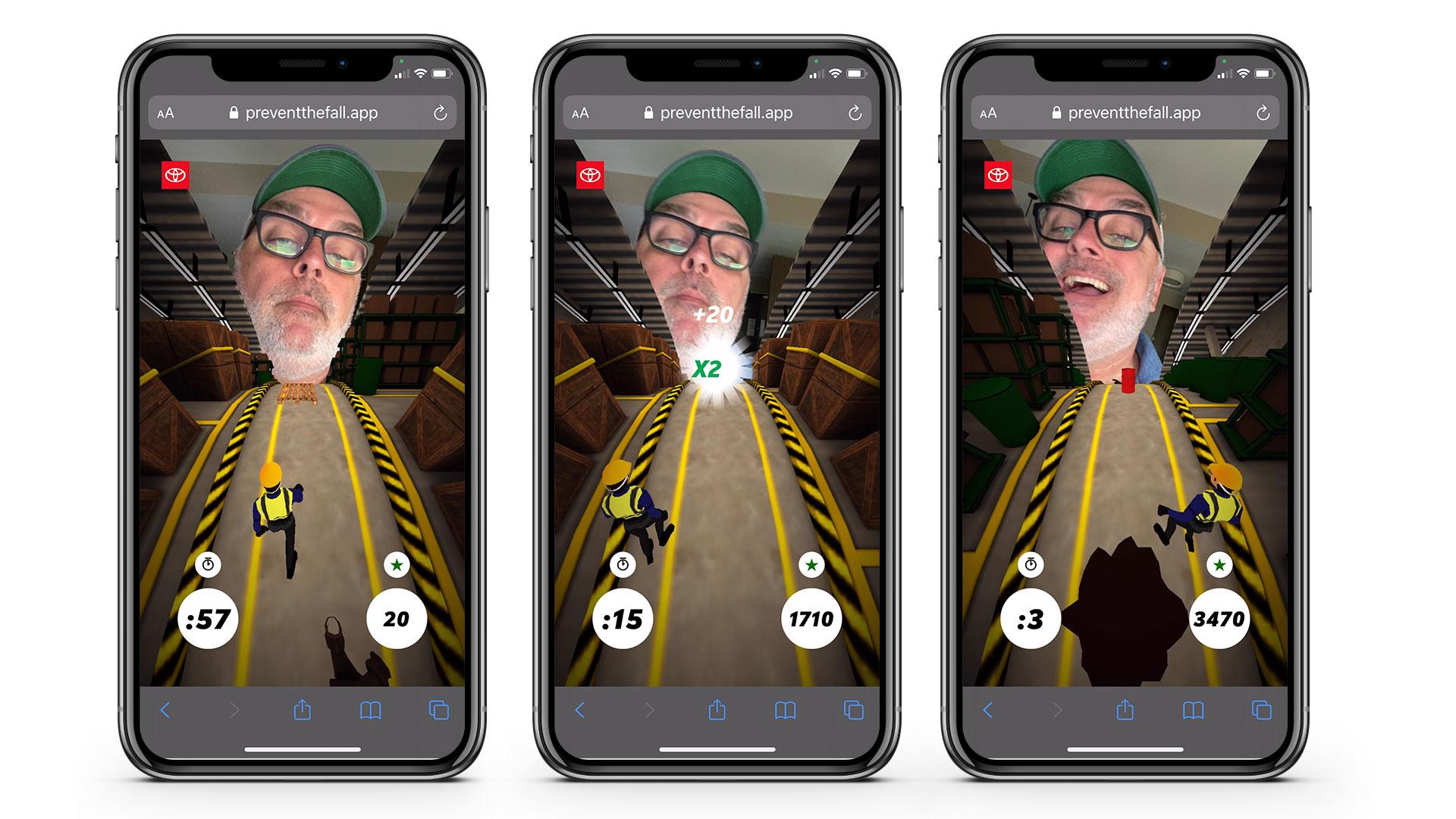 Weber training mobile web game