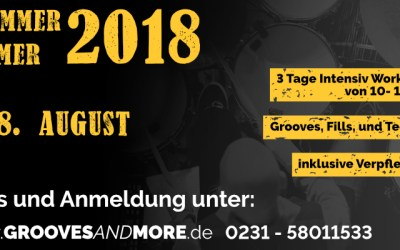 Drummer Summer 2018 – 3 Tage intensiv Workshop