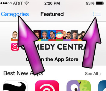 app store_iphone_top navigation bar