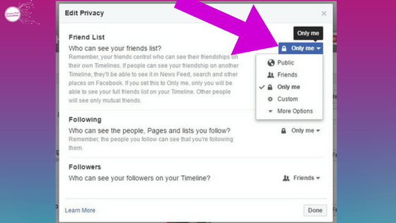 hide facebook friends list_privacy